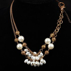 Vintage Asymmetrical Beaded Chain Necklace